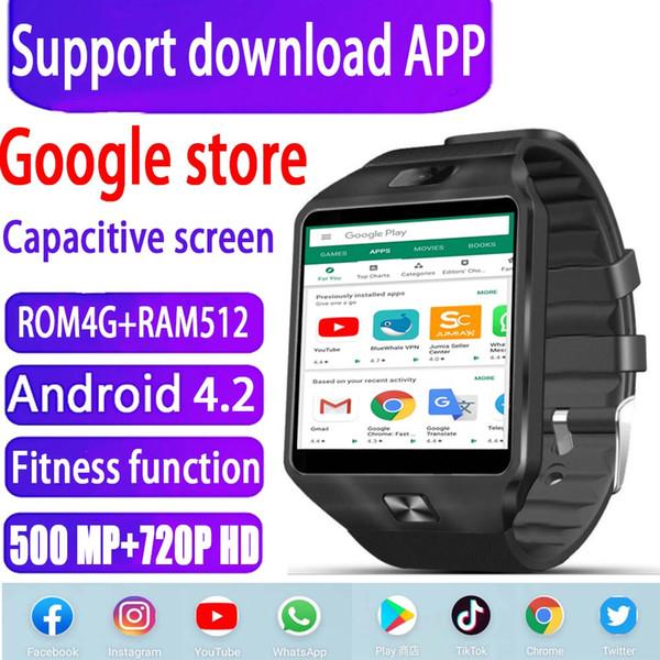 Android 4.2 Akıllı Seyretmek Telefon 4 GB + 512 MB 500MP + 720 P HD WIFI sürüm 3G kart çağrı spor adım