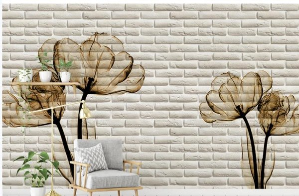Tulip 3d Brick Wall Tv Background Wall Wallpaper For Walls 3 D For Living Room Contemporary Wallpaper Cool Wallpapers From Wallpaper01 40 21