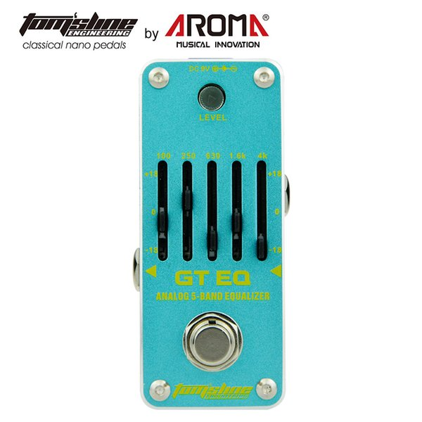 AROMA AGE-3 Analogue Guitar Equalizer EQ Pedal 5 Bands With 18dB Optional True Bypass Volume Control