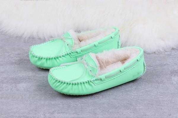 Snow Boots UG обувь для женщин Зима Овцы меха Теплые ботинки Свет Ночь Зеленый Розовый Белый Diamond Серый дизайнер Клин сапоги с коробкой