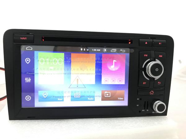 Núcleo quad 2din Android 9.0 DSP Car DVD leitor de CD de Navegação GPS Autoradio Estéreo Navi para Audi A3 S3 2006-2011 carro sistema multimídia