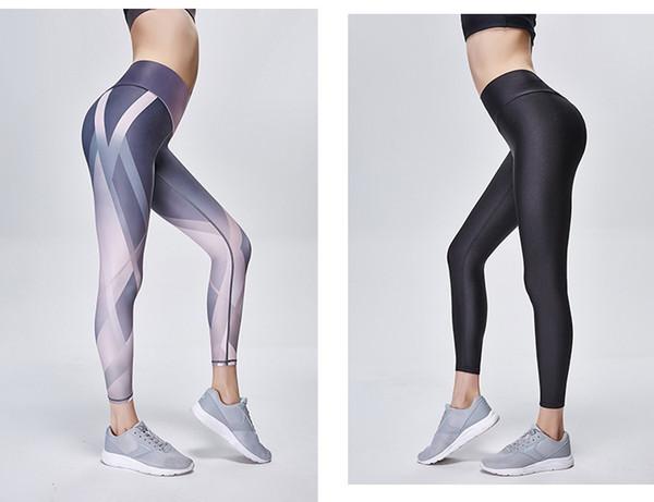 Одежда для йоги, одежда для фитнеса, брюки для йоги, колготки с цифровой печатью, спортивные брюки с высокой талией, быстросохнущие фитнес-брюки