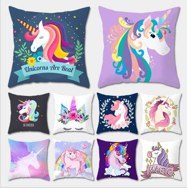 Christmas Decorations Xmas Pillow Case Cartoon unicorn Cushion Covers Sofa Throw Pillow Covers toy 30 styles
