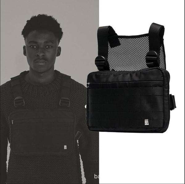 Harnais Sac Rig poitrine Hip Hop Streetwear Tactical Black Rig Molle Sac poitrine taille fonctionnelle Hommes Croix étanche Sacs à bandoulière