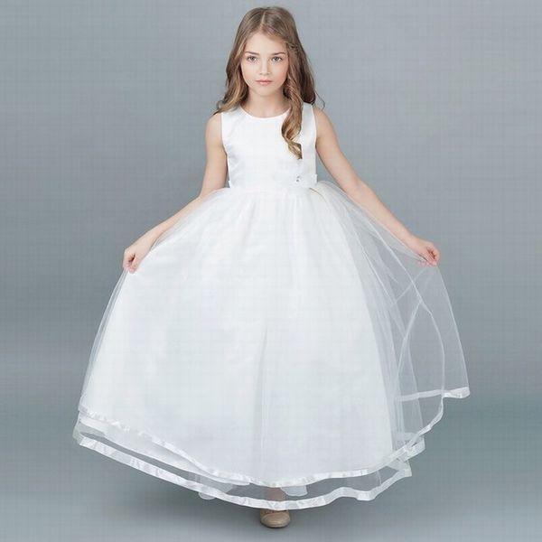Charming Princess Ball Gown Girls Party Prom Birthday Kids Flower Girl Dress Beautiful Children Dress ST124
