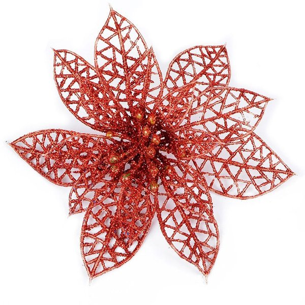 10pcs Simulation Artificial Floral Flowers Plastic Decoration For Christmas Tree Party HYD88