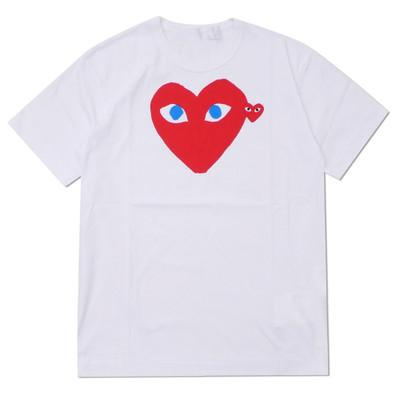 Lover Grey COM DES G GARCONS CDG HOLIDAY Heart Emoji T-shirt new large red hearts limit the expression love couples