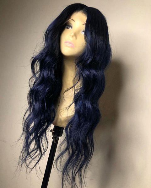 Body Blue Wave pleine dentelle perruques Glueless Brésilien Remy cheveux humains pleine dentelle perruques Pré-pincées avec bébé cheveux