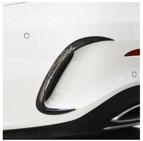 Car Styling Exterior Body Rear Bumper Cover Trim Stickers Accessories For Mercedes Benz A Class W177 V177 A180 A200 A220 A250