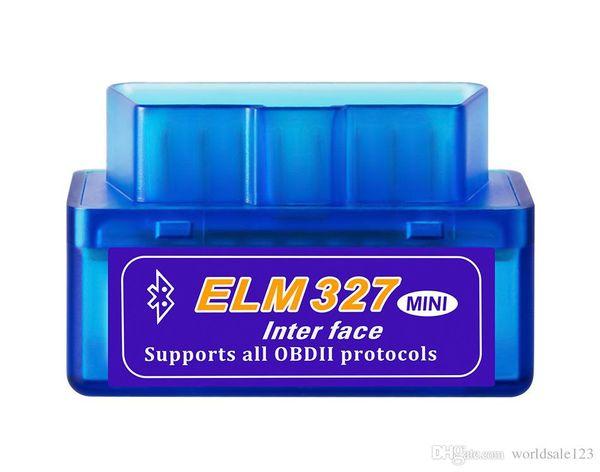 Mini V2.1 ULME 327 OBD2 Elm327 Bluetooth Adapterkabel Reader Scan Tool Elm-327 Autodiagnosescanner OBD 2 II Selbstdiagnosewerkzeug