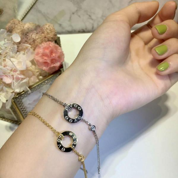 Designer Schmuck LIEBE Ring Armbänder Überzogen 18 Karat Gold Schraube Armbänder mit Rose Gold Platin Luxus Frau Liebe Geschenk 2 Farben