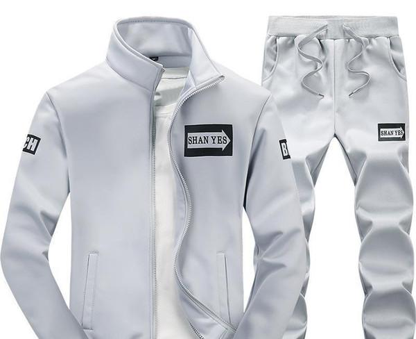mens sports survêtements concepteur conviennent printemps et à l'automne mâle nouvelle version coréenne du pantalon pull décontracté ordinaire deux pièces veste s hommes