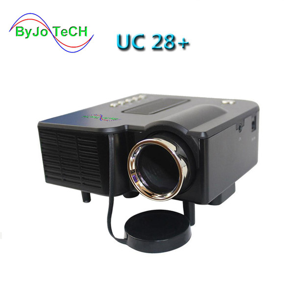top popular ByJoTeCH Multidimension UC28+ household mini LED projector Support computer USB flash SD card and DVD Proyector 2019