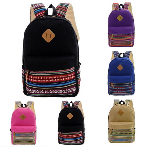 Boys Girls Rucksack Shoulder Bookbags School Bag Satchel Travel Canvas Backpack Zaino da donna Wholesale&Dropshipping Hot#30