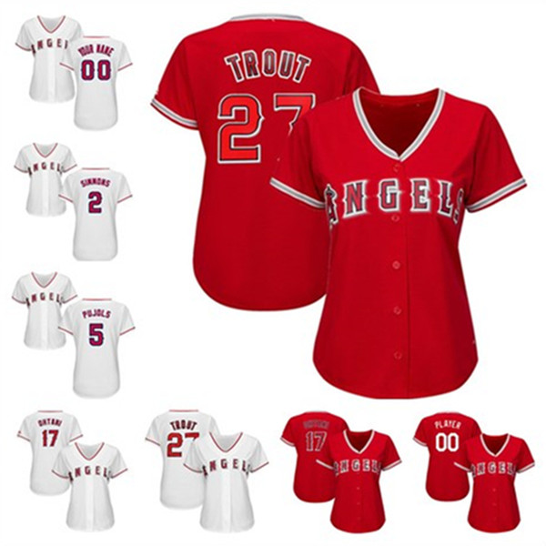 new concept c6ce9 06d1d 2019 Womens Mike Trout Shohei Ohtani Custom La Angels Jersey Albert Pujols  Jose Fernandez Alex Meye Ladies Los Angeles Baseball Jerseys From Ylz001,  ...
