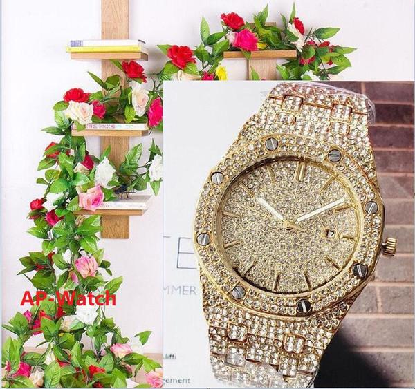 Strass 42mm hommes quartz roman femmes de luxe numériques design montre dropshipping Femme Montres d'or cadeaux femmes montre-bracelet