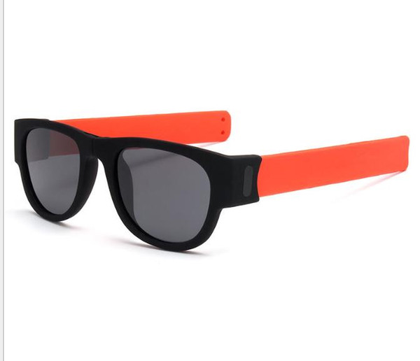 Ring Folding Polarizing Sunglasses Coloured Legs Sports Fashion Riding Clap Mirror Wrist Sunglasses
