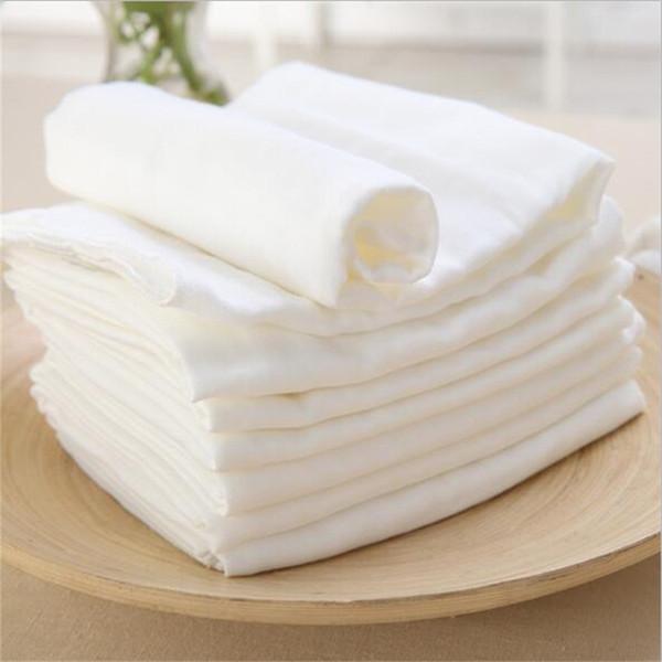 5 unids alta quanlity 3 capas de algodón peinado del bebé pañales reutilizables lavables para bebés bebés recién nacidos de tela pañal pañales forro inserto