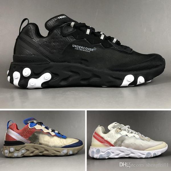 Nouveau UNDERCOVER x Prochain React Element 87 Pack blanc epic Sneakers marque Hommes Femmes Dresseur Hommes Femmes designer Chaussures Casual zapatos