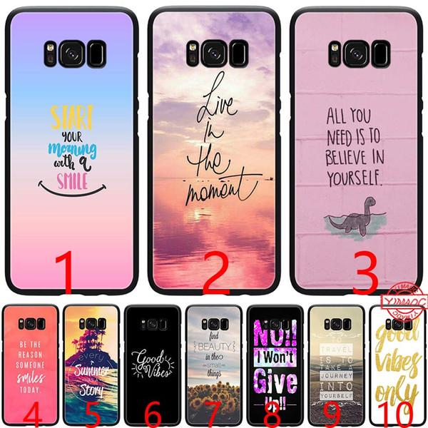 Fundas De Movil Proverbio Frase Lema Good Vibes Only Love Silicone Black Tpu Phone Case Para Samsung A3 A5 2016 2017 A6 Plus 2018 Cubierta Fundas