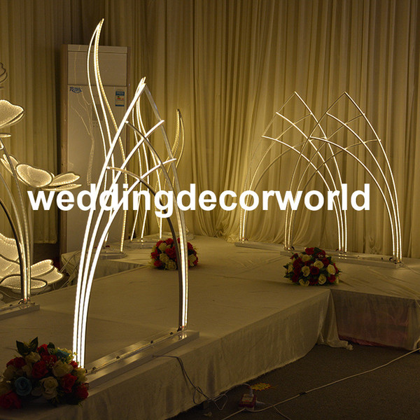 New style popular new style iron chorme candle holder pillar candles metal stand for wedding stage decoration walkway pillar decor0981