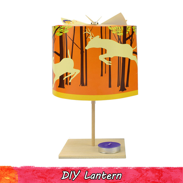 Chinese Paper Lantern Model Kits Physical Science Experiment Toy for Kids Divergent Thinking Creative Gift Home Decoration