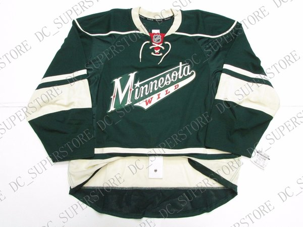 Cheap custom MINNESOTA WILD THIRD TEAM ISSUED JERSEY stitch add any number any name Mens Hockey Jersey XS-5XL