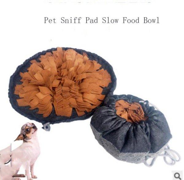 Собака кормления ЗАПАХЛО нюхать площадку обучения одеяла для домашних животных обнюхать укус устойчивых головоломок нескользящей собаки мат внешней торговлю зимнего коврик