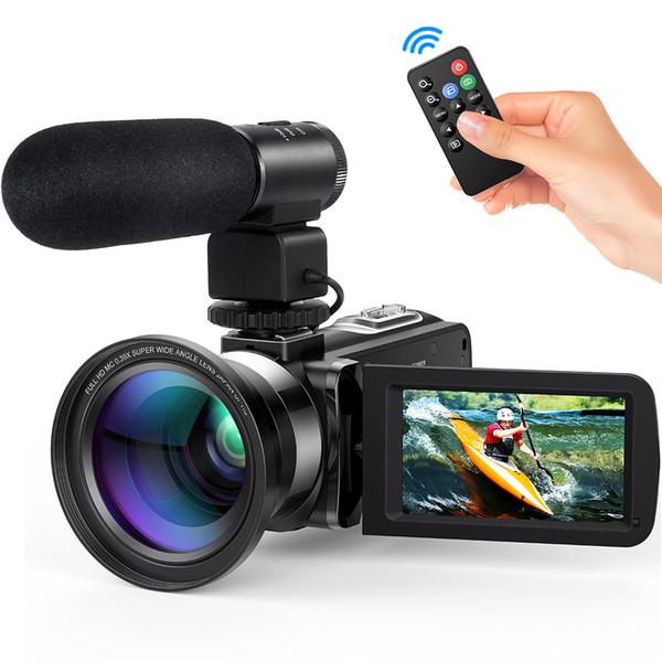 kameralar Tüketici Kameralar Andoer FHD 1080 P Ev Taşınabilir Dijital Video Kamera Kamera Kızılötesi Gece Görüş 3.0