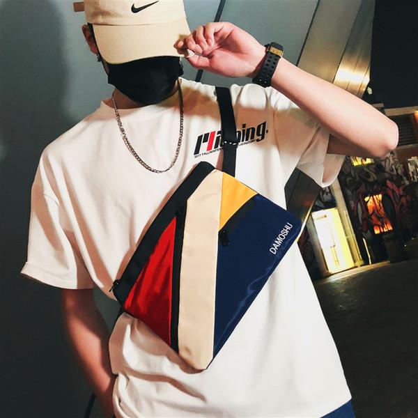 Brand Originality Design satchel students Korean single shoulder bag men's Fashion men's Japanese sports canvas messenger bag
