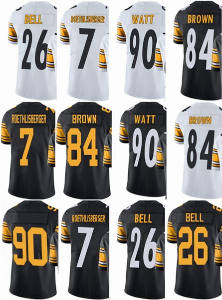 new arrival db506 fa106 Steeler Pittsburgh Mens Jersey #7 Ben Roethlisberger #26 Le'Veon Bell #84  Antonio Brown #90 T.J. Watt Vapor#Untouchable Limited Jerseys Wedding Suits  ...