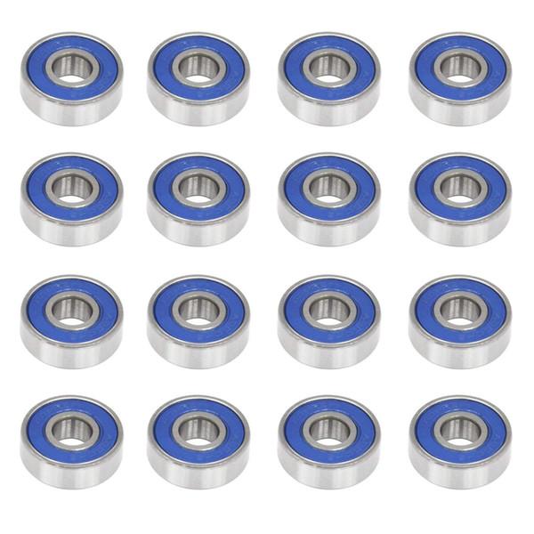 100pc abec 9 608 2r roller blade bearing 608r 608 2r roller kate wheel bearing 8 22 7 mm kateboard ball bearing