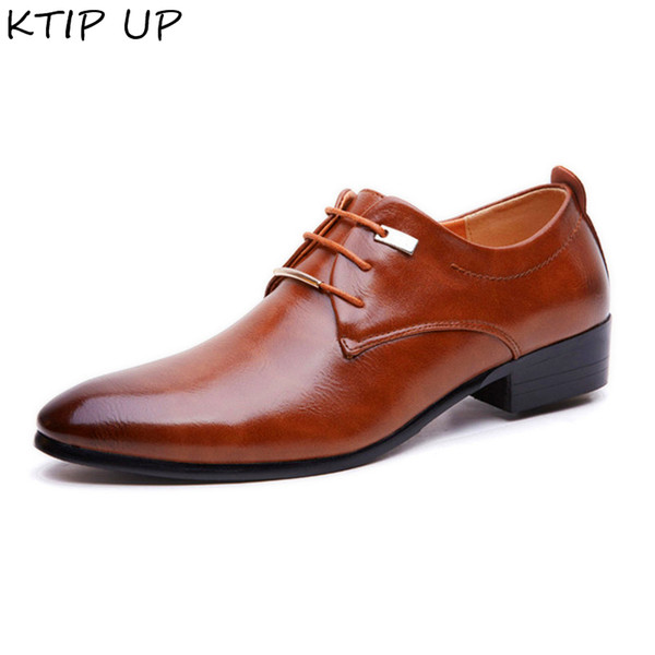 2019 Véritable En Cuir Casual Hommes Chaussures Mode Hommes Appartements Bout Rond Confortable Bureau Chaussures Habillées De Bureau Plus La Taille 38-48