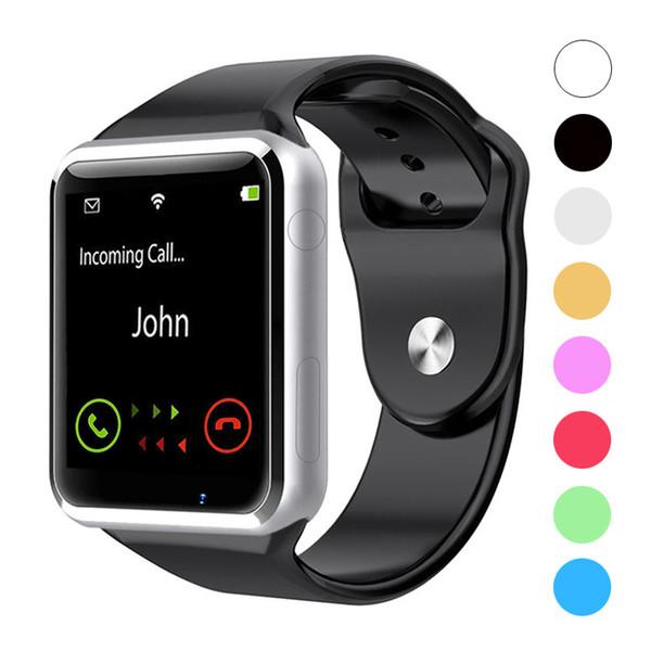 A1 bluetooth smart watch spor akıllı saatler destek sim / tf kart kamera ile apple iphone samsung android telefon için