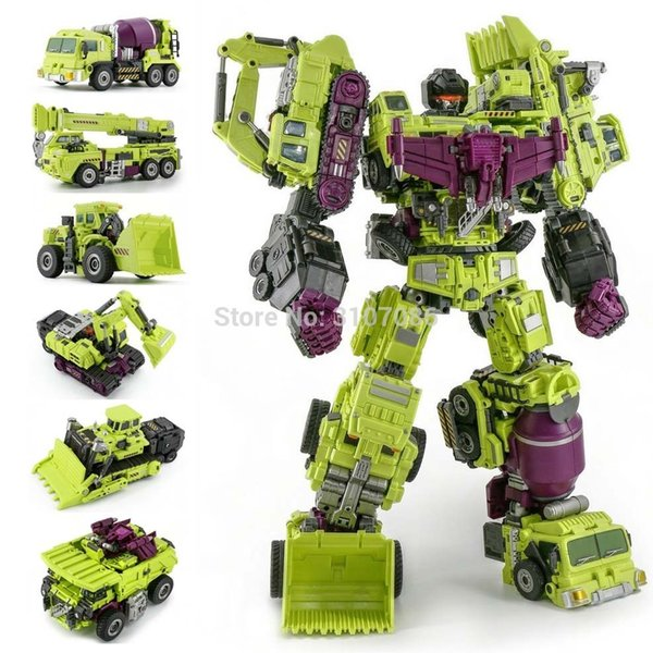 Jinbao Devastator Transformation G1 Gt Oversize 6in1 Bonecrusher Scrapper Gravity Mixmaster Hook Ko Action Figure Robot Toys Y190604