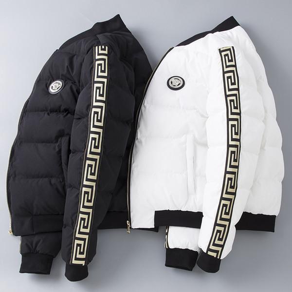 Winter neue mode mens designer jacken schlank dicke baumwolle mantel hochwertigen luxus reißverschluss designer jacke plus größe m-5xl