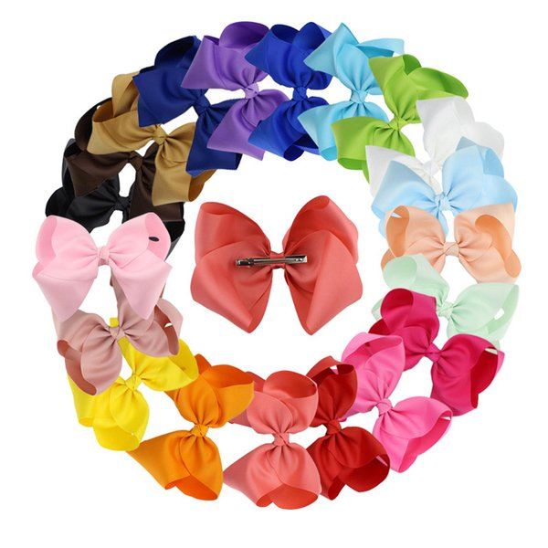 Bow Hairpin Children's Hair Accessories Clip Wholesale Korean Version of 6 - Inch Handmade Fabric Bubble Flower Duckbill Clip