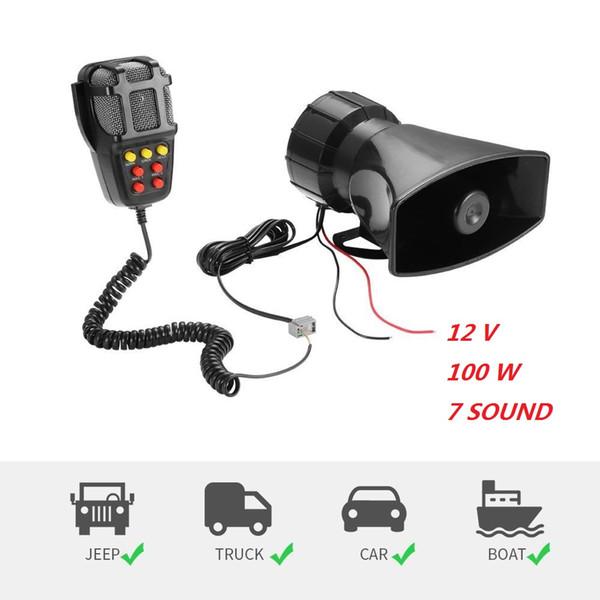 Grabación universal de coches Sirena de emergencia Mic Mic Sistema de altavoces Sirena Sirena Alarma Holder Altavoz Tono Sonido