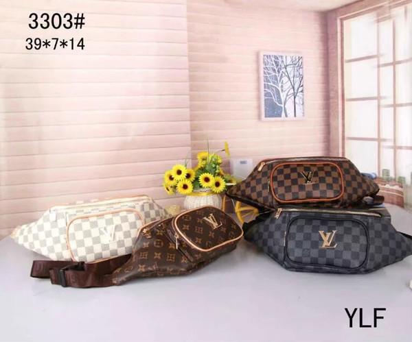 Top Ring lettera di colore solido nuova borsa sacchetto della vita di spalla di cuoio borsa borsa personalità di lusso di lusso del raccoglitore degli uomini di modo