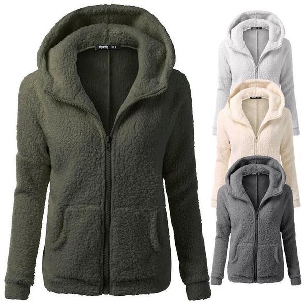 Compre La Mejor Venta Sudadera Mujer Abrigo Con Capucha De Invierno Cálido Lana Abrigo Con Cremallera Abrigo De Algodón Ropa De Mujer Feminina Moletom