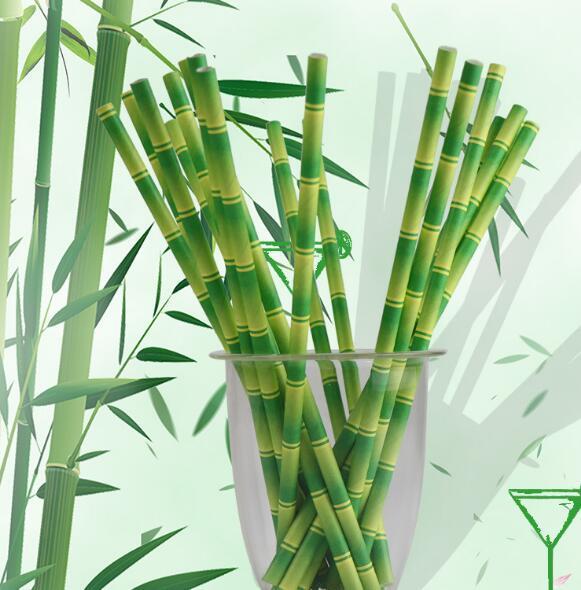 Pipette de papier de couleur dégradable environnementale jetable bande environnementalePipette de bambou pipette en papier de couleur dégradable environnementale