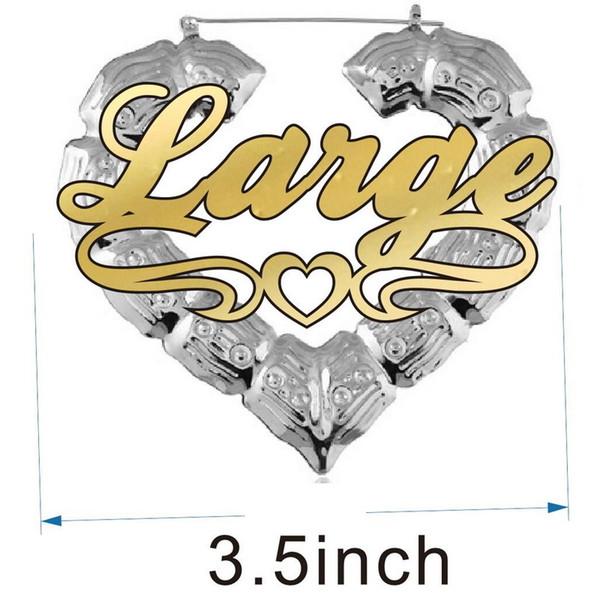 3.5inch الفضة القلب الخط 1