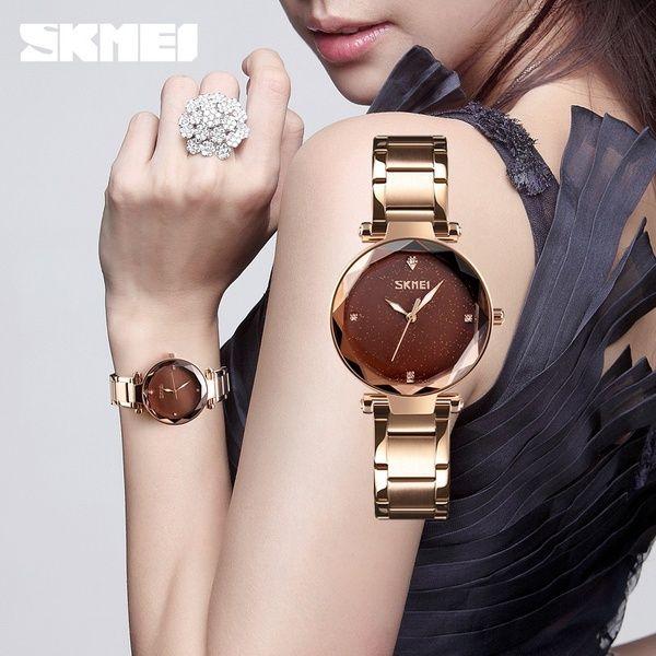 79174dafaaf Compre SKMEI Mulheres Relógio De Quartzo Elegante Top Marca De Luxo ...