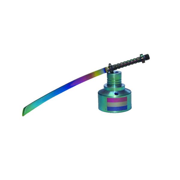 Rainbow Titanium Carb Cap Titanium Nail word dabber Titanium straight sword Dab Tool