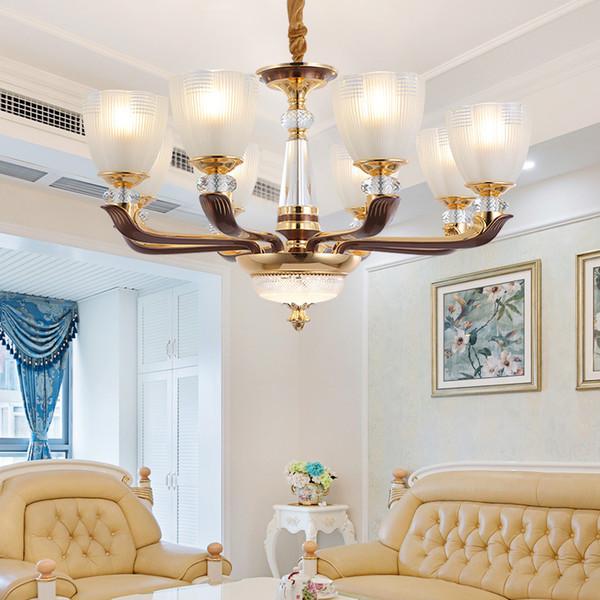 Großhandel Moderne LED Kronleuchter Wohnzimmer Hängelampen Keramik Leuchten  Schlafzimmer Leuchten Kupfer Hängelampen Von Grege, $652.91 Auf ...