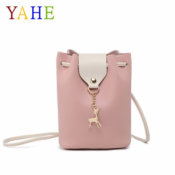 YaHe Luxury Brand Leather Ladies Cross Over Shoulder Bags Women Small Sling Phone Bags Childrens Kids Crossbody Messenger Pouch