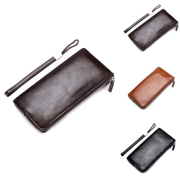 Le portefeuille long des nouveaux hommes coréens à glissière pour téléphone portable pour les hommes, un portefeuille ultra-fin, un portefeuille multifonctions, vous permettent de voyager facilement