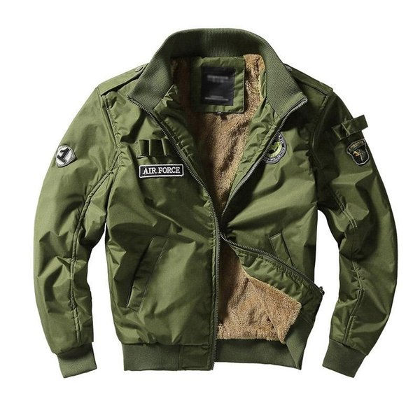 Men Army Tactical Jackets Military Style Clothes Men Winter Thick Pilot Coat US Army 101 Air Force Bomber Jacket Coat Furry Leather Jacket Denim Coat