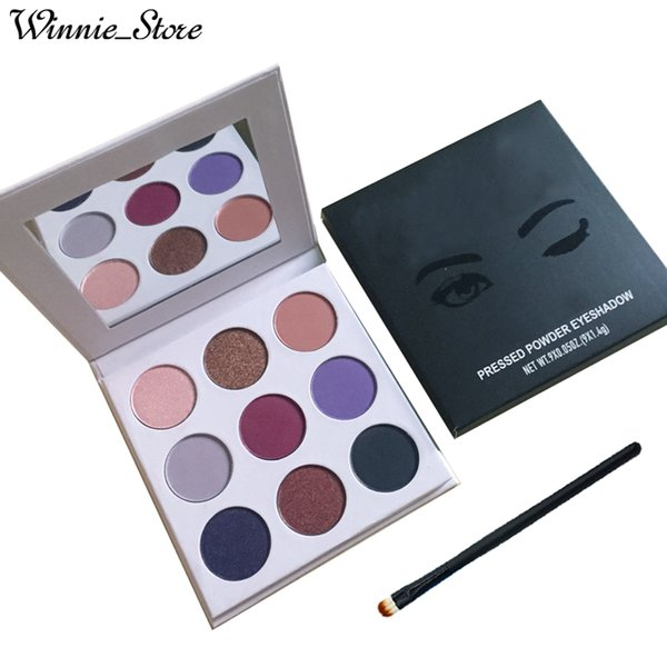 Free Shipping by ePacket Best Quality Eyeshadow Palette the Purple & Bronze & Burgundy & Holiday 9 colors Eye Shadow Palette + Gifts