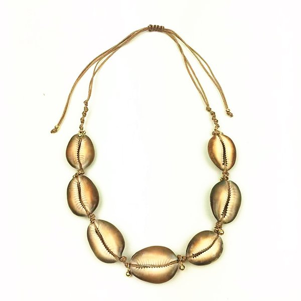 Natural KAURI SHELL Femmes Meilleur Ami Coquillage Collier Femme Boho Jewelry New
